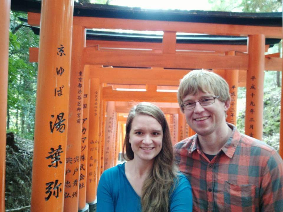 At the Shinto Shrine in Tokyo