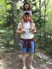 Adoptive Family Photo: Hiking with Our Friend's Daughter, click to view bigger version