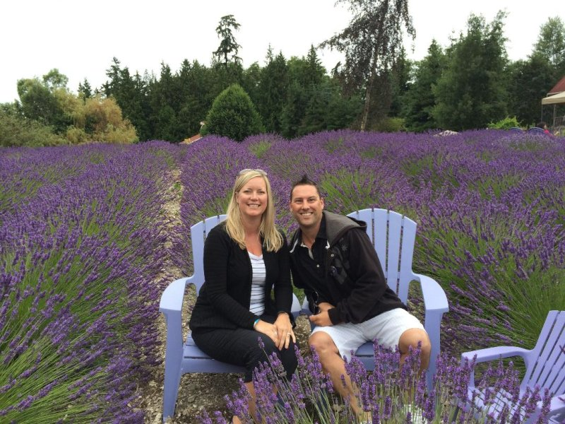 All Smiles in a Lavender Field
