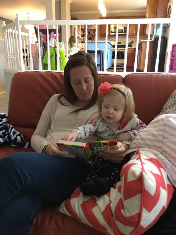 Melanie Reading With Her Goddaughter