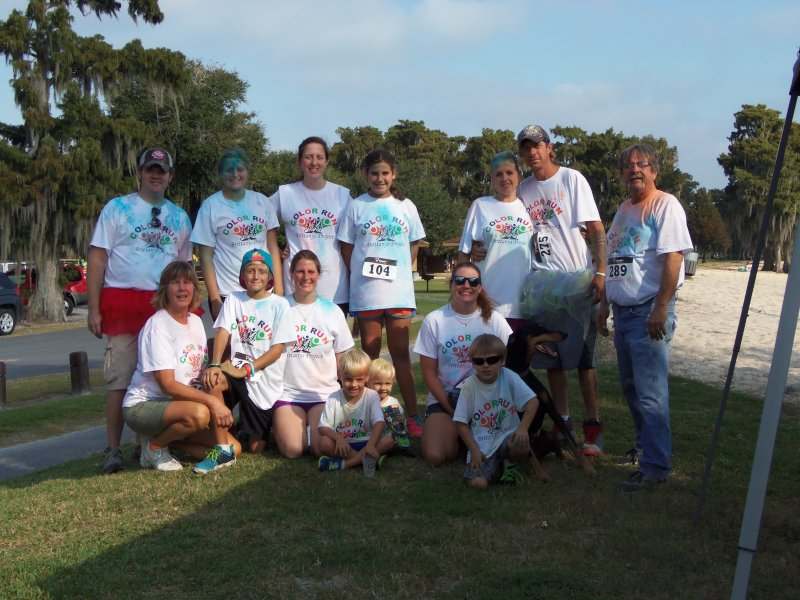 Color Run With Family to Benefit a Special Needs Group in Our Community