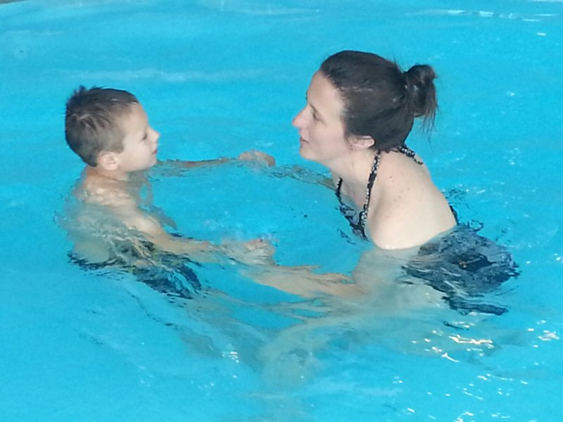 Swimming With Our Nephew