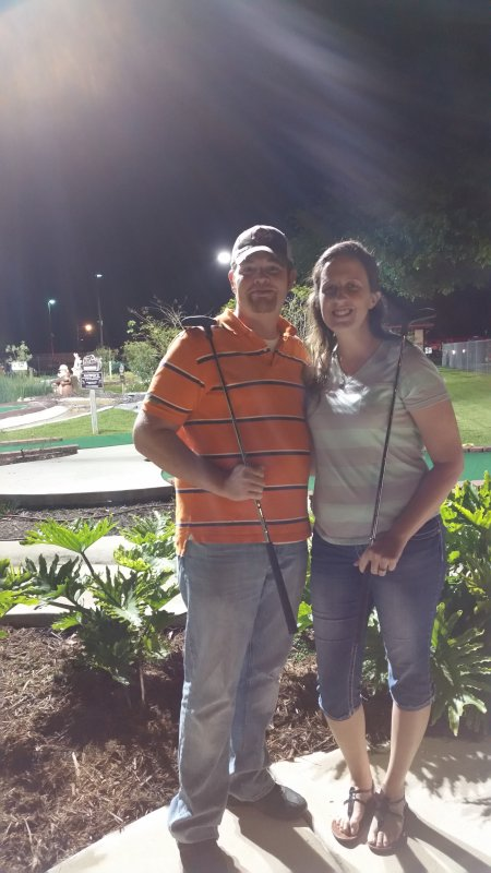 Enjoying a Round of Putt Putt