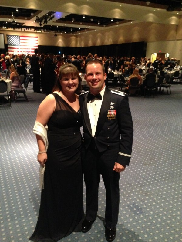 All Dressed Up for a Military Ball