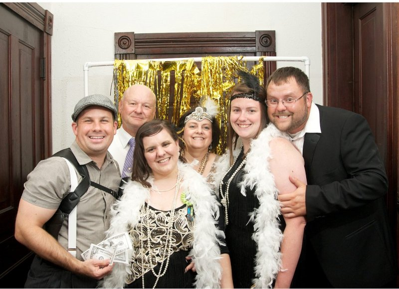 Family Picture Before a Murder Mystery Party