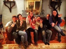 Adoptive Family Photo: New Years' Eve with Friends, click to view bigger version