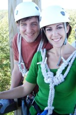 Adoptive Family Photo: Getting Ready for Zip Lining, click to view bigger version