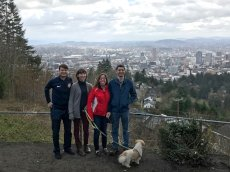 Adoptive Family Photo: Exploring Portland with Friends