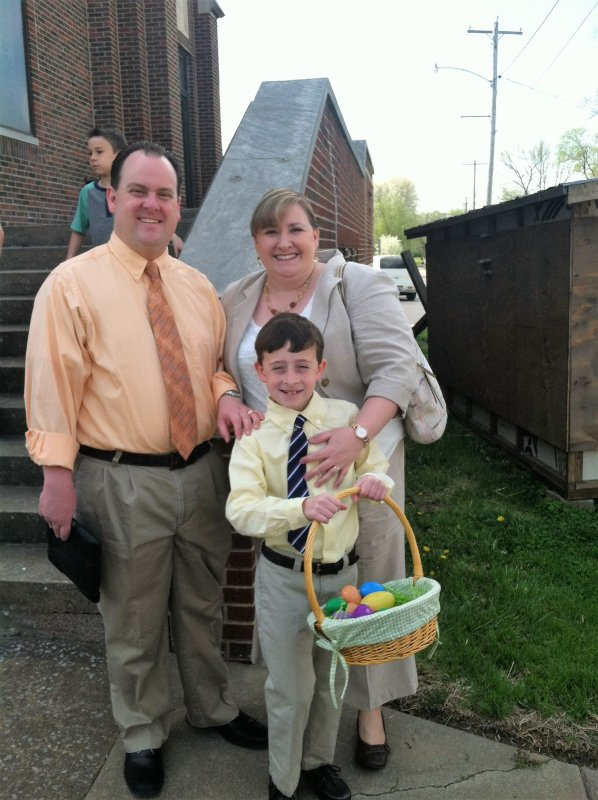 Happy Easter! Wyatt Did Well in the Egg Hunt