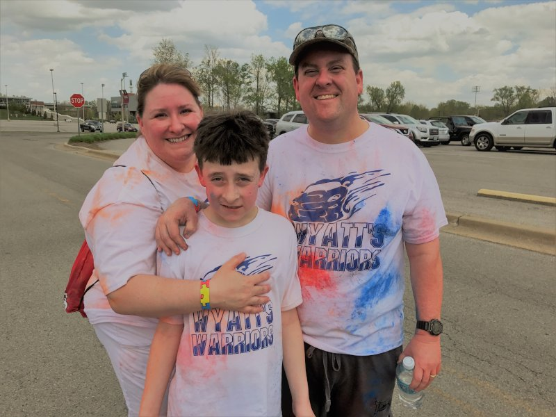 Honoring Our Son, Wyatt in the Annual Autism Society Color Run
