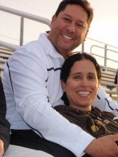 Adoptive Family Photo: Watching a Track & Field Event, click to view bigger version