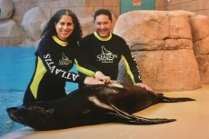 Adoptive Family Photo: Sea Lion Fun