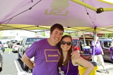 Adoptive Family Photo: We Love Our LSU Tigers- Cheering on Tiger Baseball, click to view bigger version
