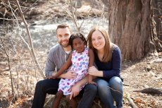 Adoptive Family Photo: Visiting a Nearby Waterfall - One of Our Favorite Places!, click to view bigger version