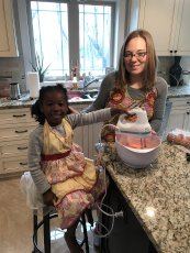 Adoptive Family Photo: Baking Cupcakes, click to view bigger version