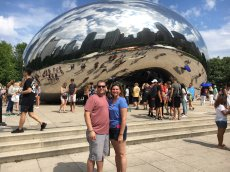 Adoptive Family Photo: Checking Out the Bean