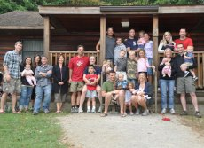 Adoptive Family Photo: Annual Camping Weekend With Friends, click to view bigger version