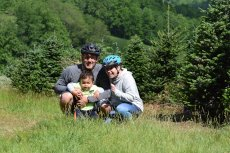 Adoptive Family Photo: Biking in Virginia, click to view bigger version