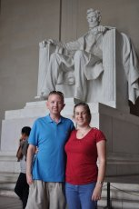 Adoptive Family Photo: Visiting the Lincoln Memorial in D.C., click to view bigger version