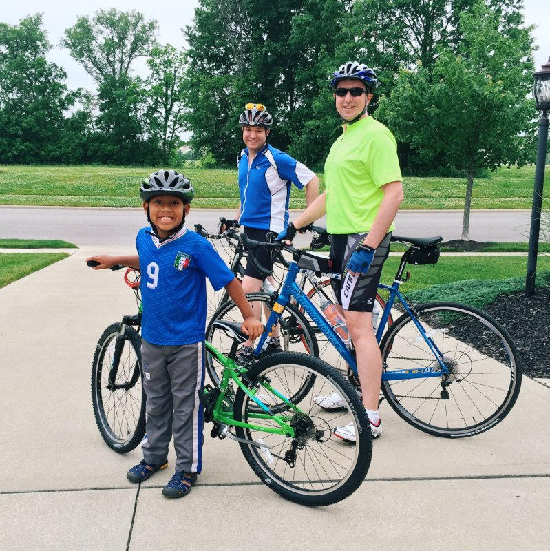 Biking With Greg's Brother & Nephew