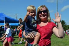 Adoptive Family Photo: Camille With Her Godson at an Art Festival