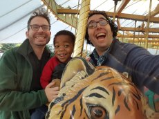 Adoptive Family Photo: We Love Going to the Zoo & Riding the Carousel