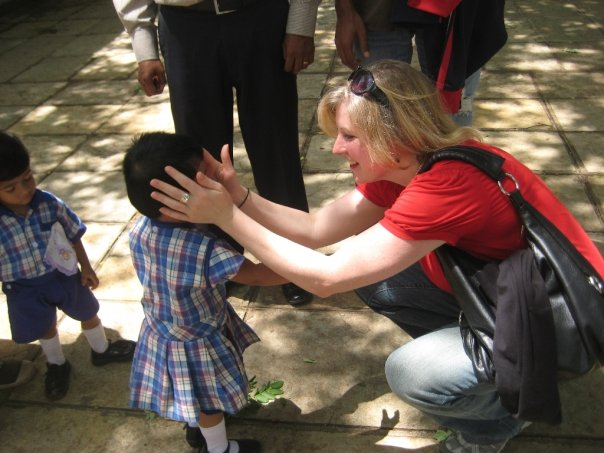 Amy Working With Children in India