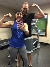 Adoptive Family Photo: Working Out & Being Silly!, click to view bigger version