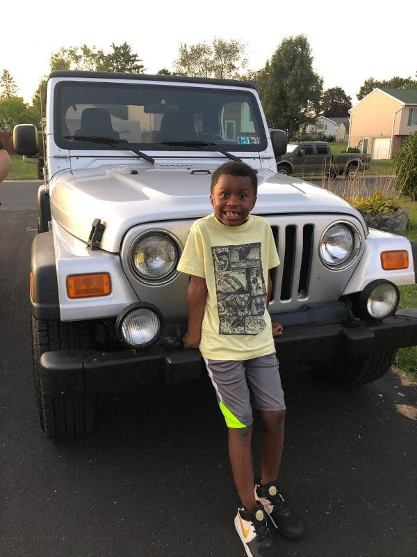 Isaiah Getting Ready for a Jeep Run