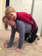 Adoptive Family Photo: Being Silly with Mommy