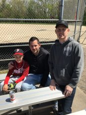 Adoptive Family Photo: Baseball Fun With Our Nephew, click to view bigger version