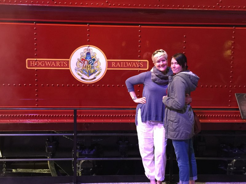 Virginia and Her Niece at Harry Potter Studios