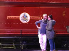 Adoptive Family Photo: Virginia and Her Niece at Harry Potter Studios, click to view bigger version