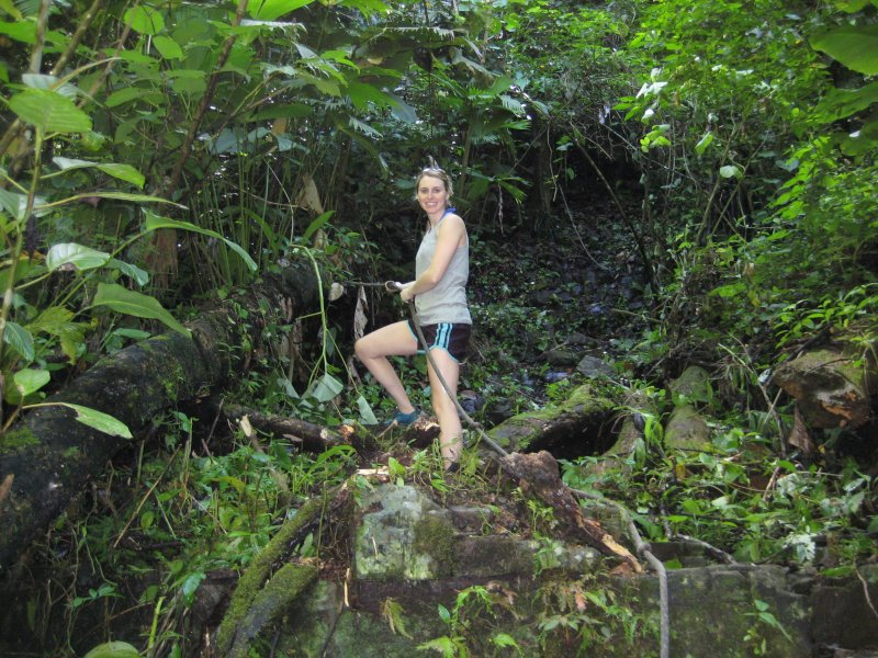 Hiking in a Costa Rican Rain Forest