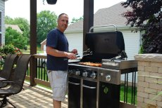 Adoptive Family Photo: We Love to Grill on Our Patio, click to view bigger version