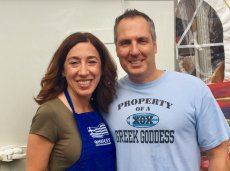 Adoptive Family Photo: Volunteering at a Greek Festival, click to view bigger version