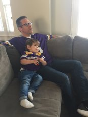 Adoptive Family Photo: Sunday Football with Dad, click to view bigger version