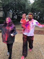 Adoptive Family Photo: Celebrating Holi, the Festival of Colors, click to view bigger version