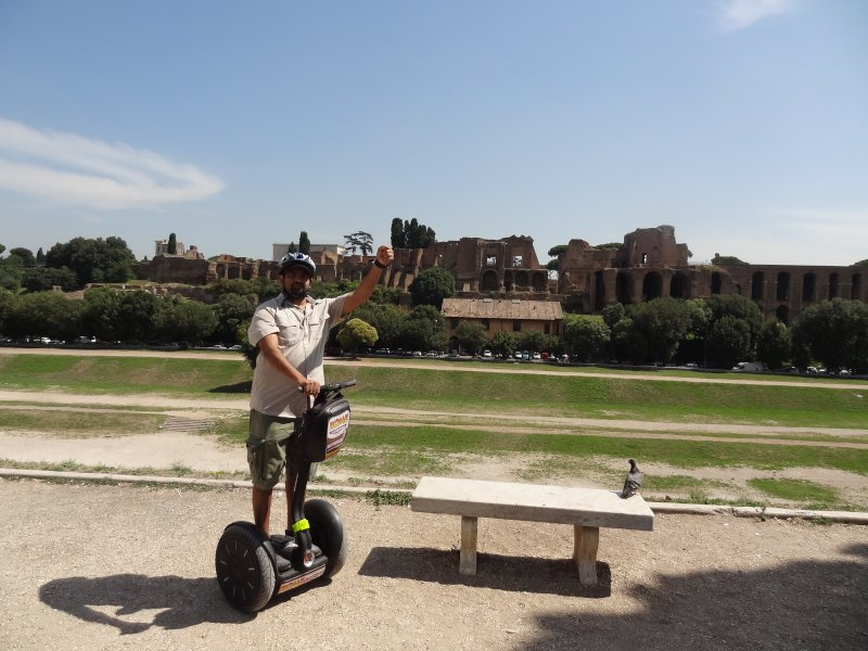Conquering Ancient Rome on Segway