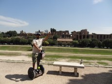 Adoptive Family Photo: Conquering Ancient Rome on Segway, click to view bigger version