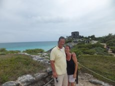 Adoptive Family Photo: Exploring Mayan Ruins in Mexico