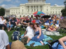 Adoptive Family Photo: Fourth of July at the Capitol, click to view bigger version