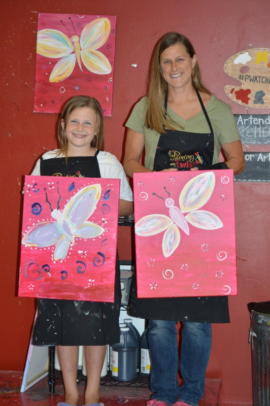 Paint Nite with Our Niece