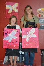Adoptive Family Photo: Paint Nite with Our Niece, click to view bigger version