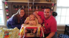 Adoptive Family Photo: Jaxon's First Birthday, click to view bigger version