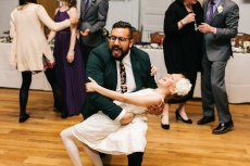 Adoptive Family Photo: Levi Dancing with Our Niece at a Wedding. He's Got the Moves!, click to view bigger version