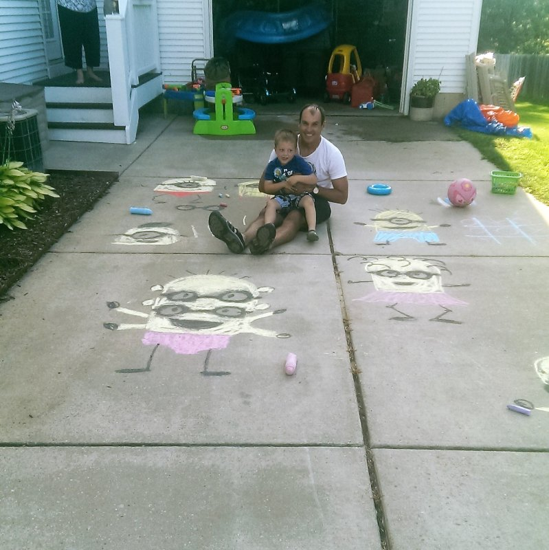Drawing Minions With Our Nephew