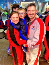 Adoptive Family Photo: Indoor Skydiving