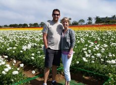 Adoptive Family Photo: The Beautiful Flower Fields in Carlsbad-San Diego