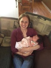 Adoptive Family Photo: Kara & Her Best Friend's New Daughter, click to view bigger version